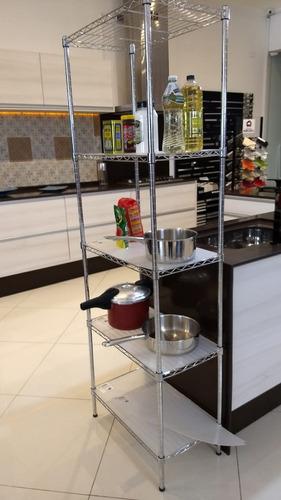 estante aço 5 prateleiras cromada aramada 180 cm