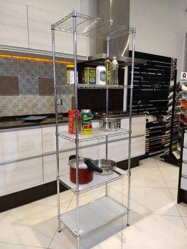 estante aço 5 prateleiras cromada aramada 180 cm c 5 forros