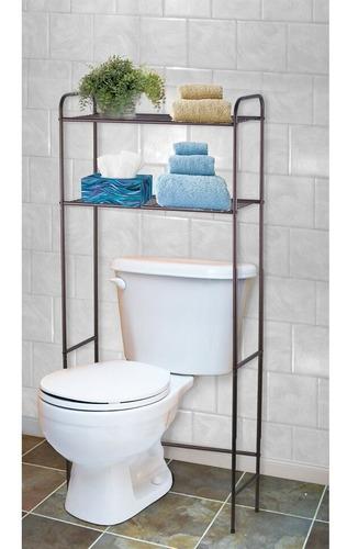 estante ahorrador de espacio para baño de 2 repisas home