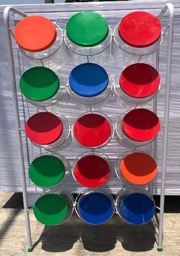 estante alambre anaquel dispensador 15 botes (envio 1 pz)