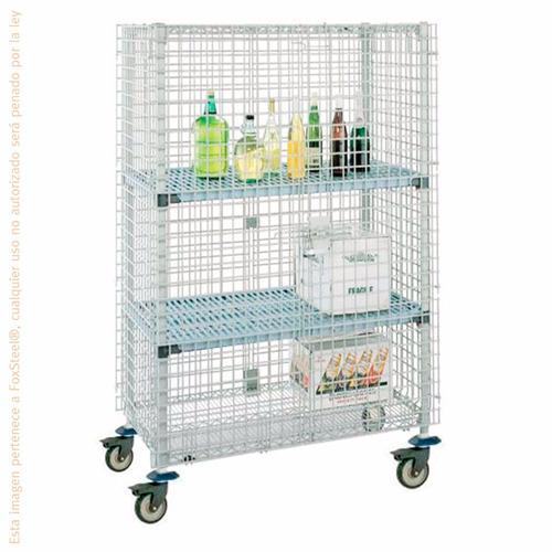 estante anaquel de seguridad movil metro 1.33 mts mqsec55de