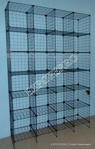 estante aramada para estoque de loja e confecção (expoferro)