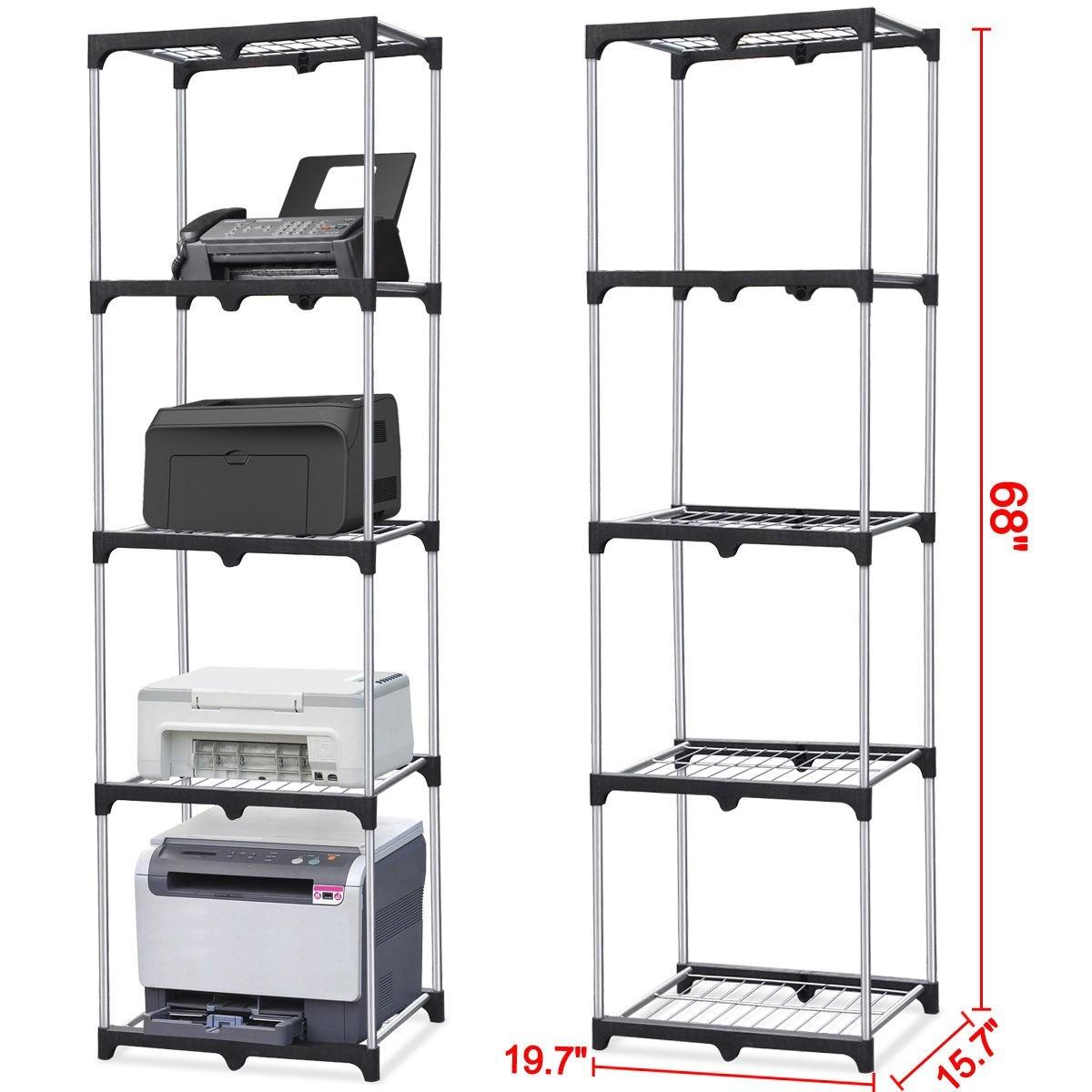 Mueble Armario Plástico 5 Estantes Y Escobero 180x65x45 Cm en ...