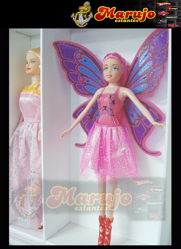 estante  barbie 10 nichos marujo estantes original