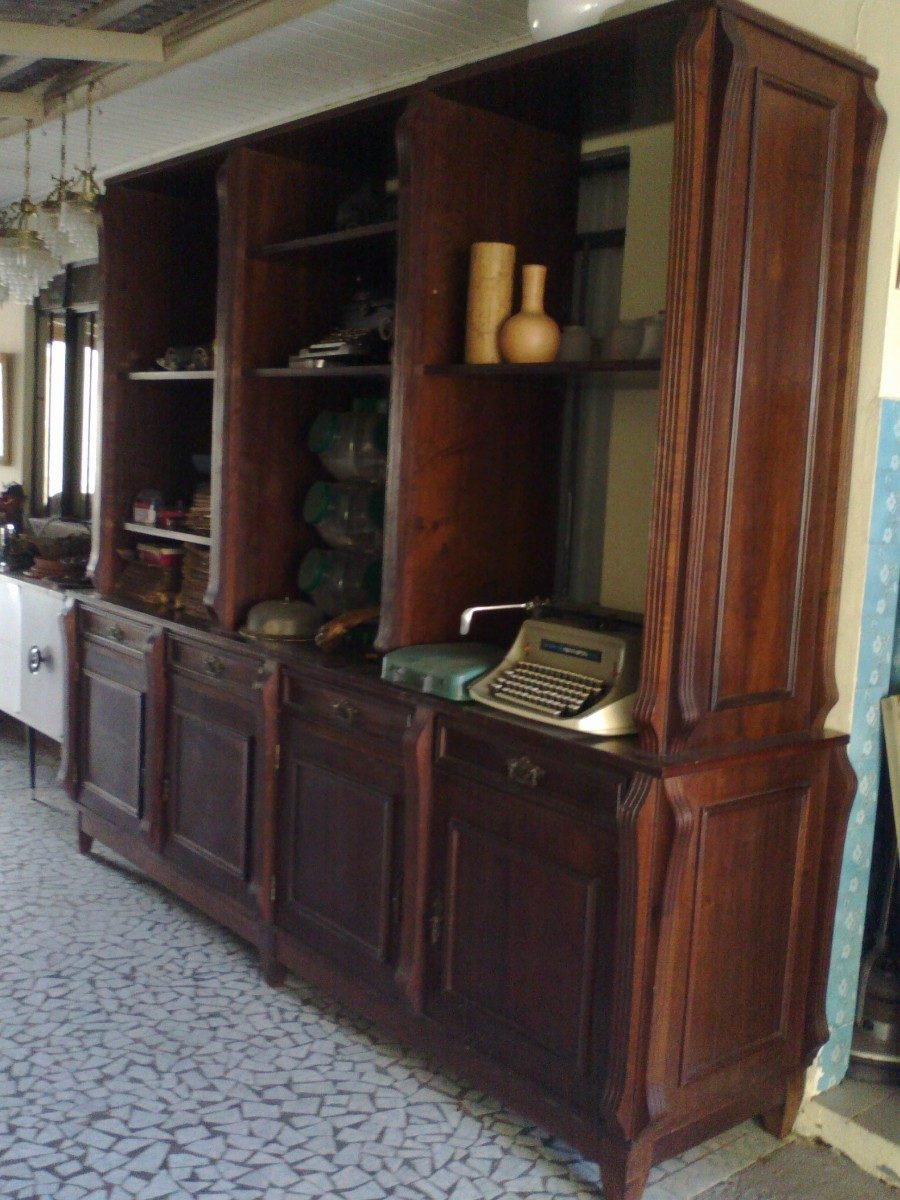 Loja De Artesanato Zona Sul ~ Estante Buffet Aparador Antigo Madeira Imbuia Desmontável R$ 1 700,00 em Mercado Livre
