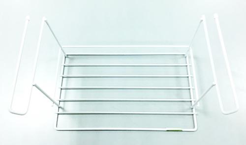 estante colgante organizador de alacena blanco alt:19,5cm