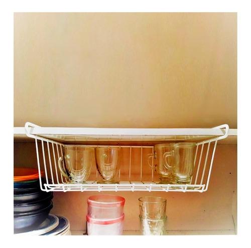 estante colgante organizador de alacena cocina blanco pc