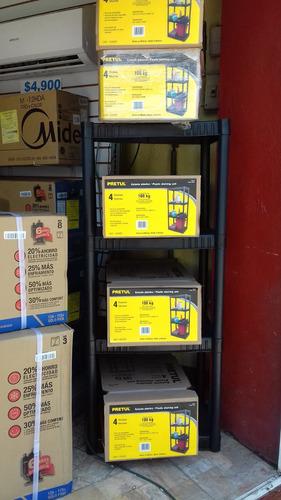 estante de 4 repisas en plástico  **kit de 4 estantes oferta