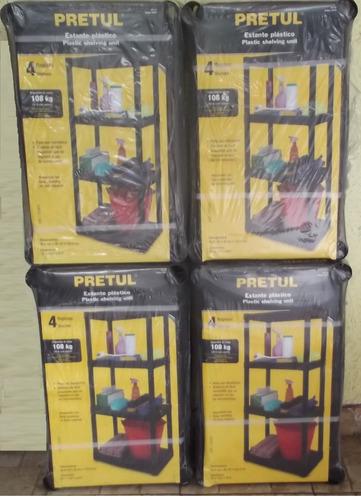 estante de 4 repisas en plástico  *pack de 4 estantes oferta
