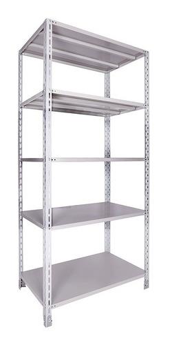 estante de aço 58 cm x 92 cm x 2,00 altura c/ 05 prateleiras