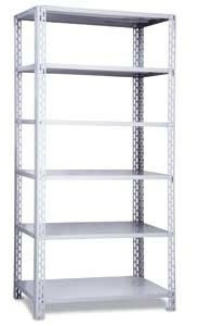 estante de aço c/6 band 2,50x0,92x0,60 c/2 reforços