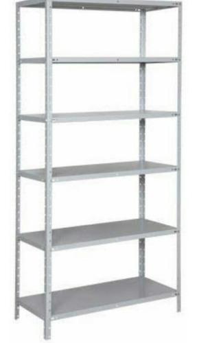 estante de aço com 06 prateleiras  1,90 x 0,92 x 0,40