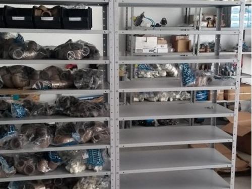 estante  de aço , com 6 bandejas 40cm de profundidade cinza