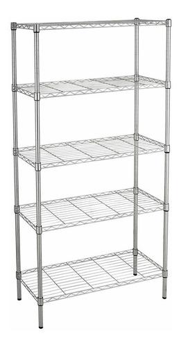 estante de aço cromado 5 prateleiras rack aramado