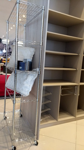 estante de aço cromado 5 prateleiras rack aramado promoção