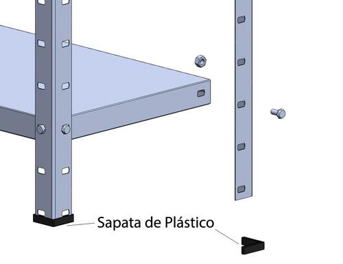 estante de aço multi-uso 30cm  6 prateleiras 30kg/prat cinza