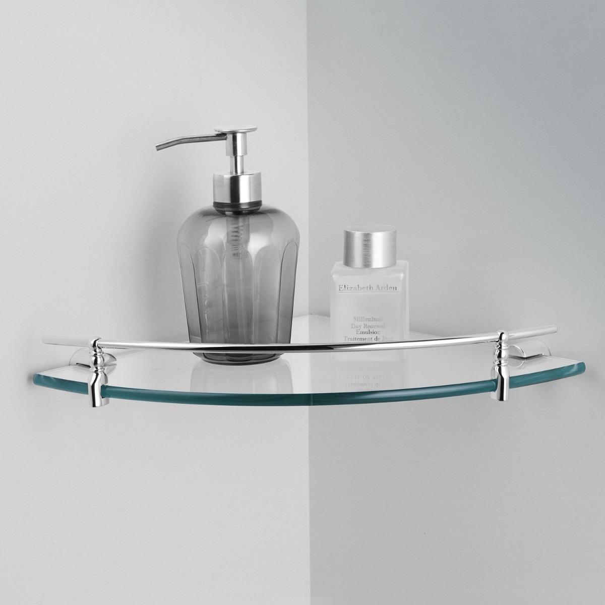 estante de ducha esquinero baño de vidrio con baranda acero. Cargando zoom. 3d4286ab40ef