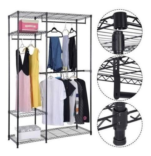 estante de perchas perchero para ropa organizador de almace