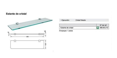 estante de vidrio hafele linea rembrandt 500x125
