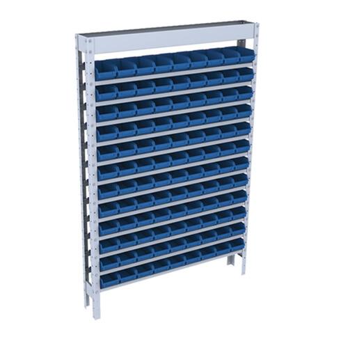 estante em aço para caixa box (bin) com 108 gavetas - nº 3