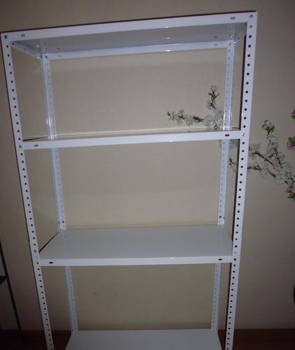 estante en  melanine blanco 1.90 alto x 84 ancho ctms