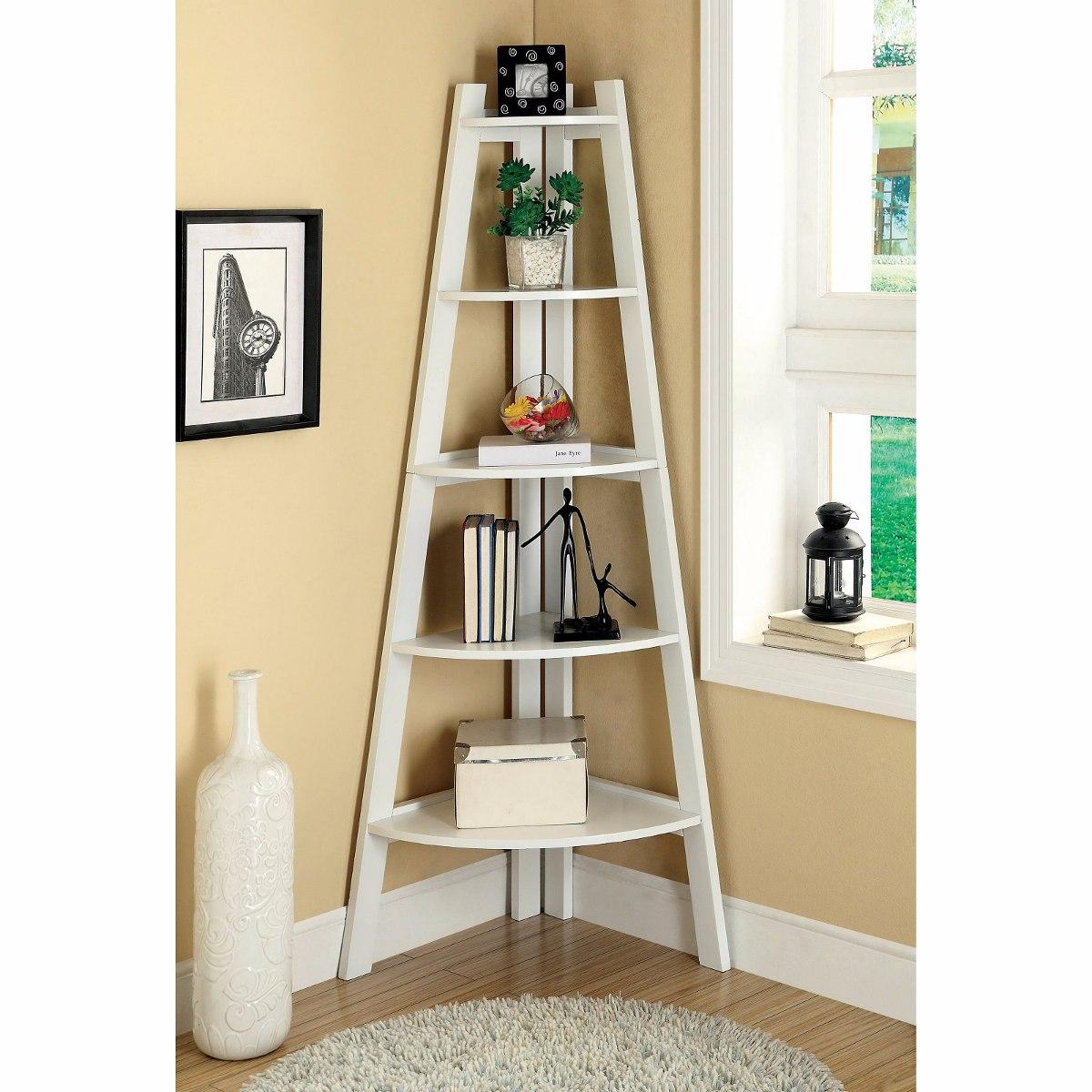 Estante escada prateleira cantoneira mdf branco 15mm r - Scala decorativa ikea ...