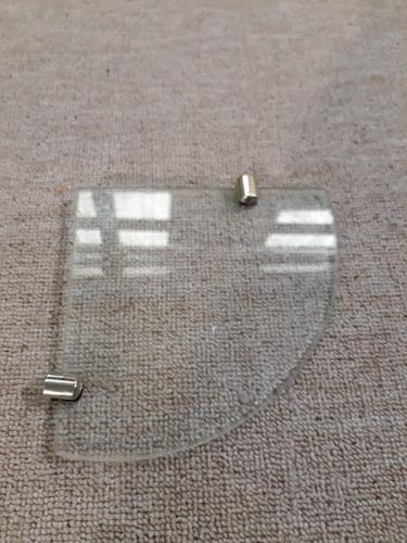 estante esquinero de vidrio 5mm de 15x15 c/soportes cromados