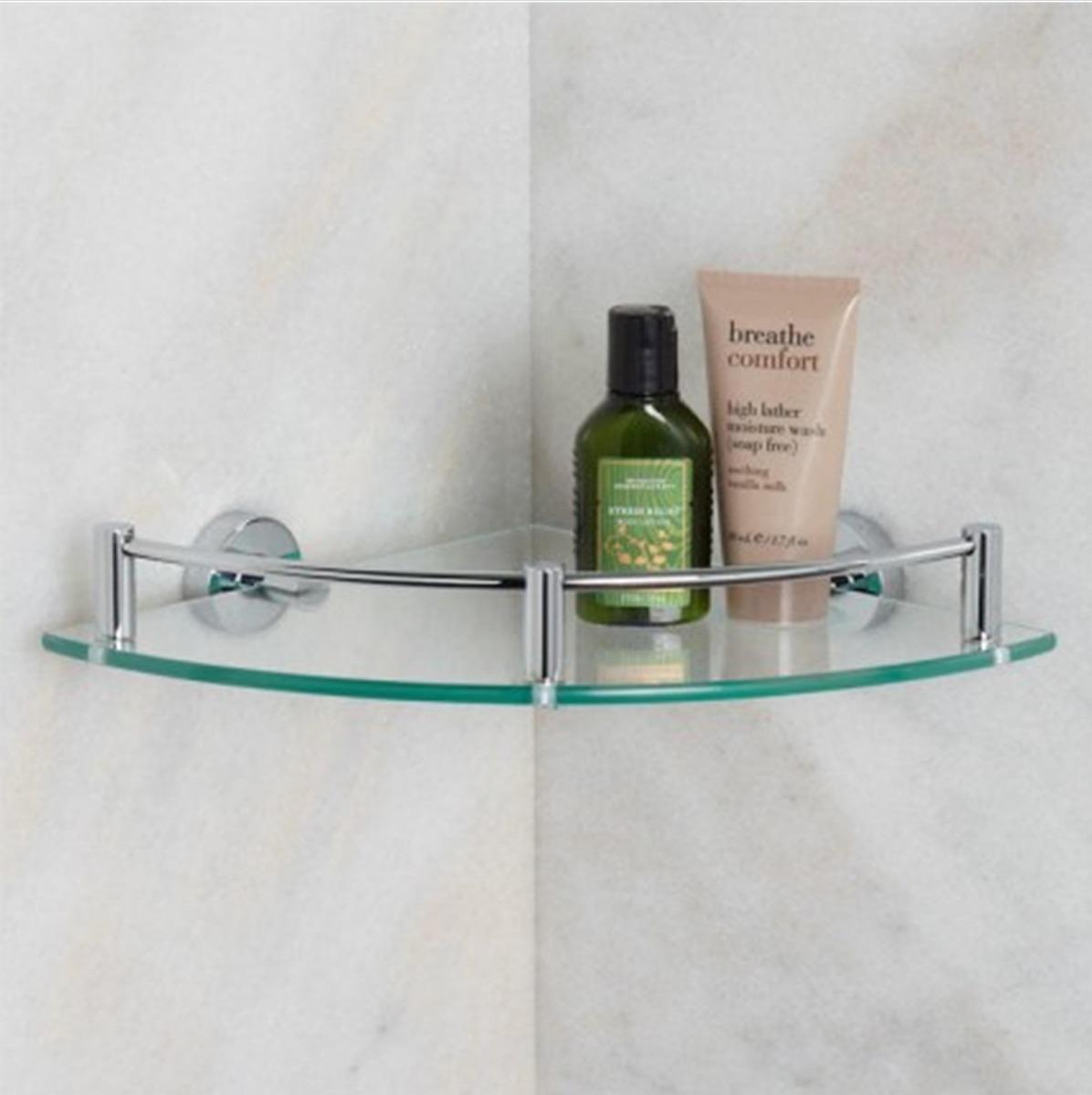 estante esquinero para ducha de baño de vidrio con baranda. Cargando zoom. 7b110bc7f07f