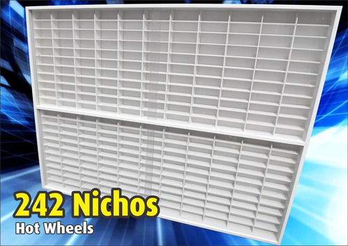 estante expositor ( 242 ) nichos 1;64 hot wheels 1.00x83x6.5