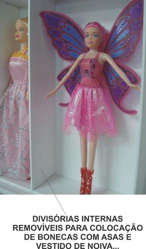 estante expositor  barbie 10 nichos marujo estantes original