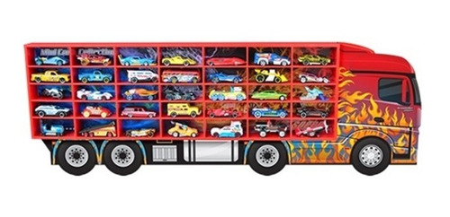 estante expositor hot wheels 35 nichos miniatura