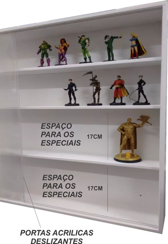 estante expositor marvel dc+especiais / funko pop 10% off