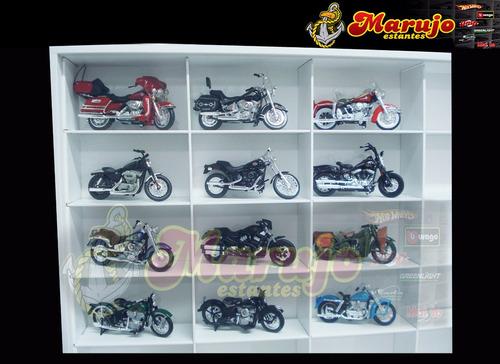 estante expositor  motos harley davidson 36 nichos esc. 1/18