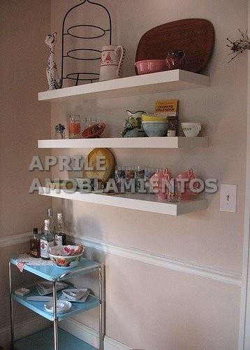 estante flotante con herraje oculto calidad premium