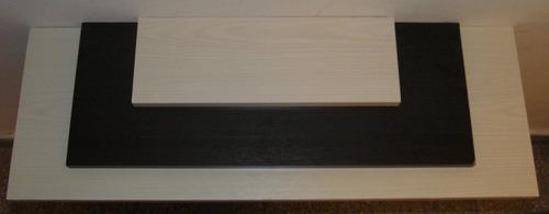 estante flotante con soportes reforzados nova 85x30 cm