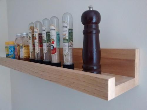 estante flotante en madera paraiso tipo viga x 1mt  by nila
