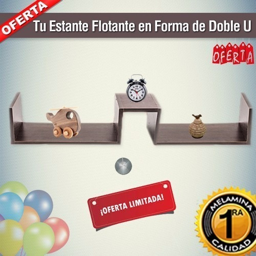 estante flotante invisible color formas ¡super s y doble u!