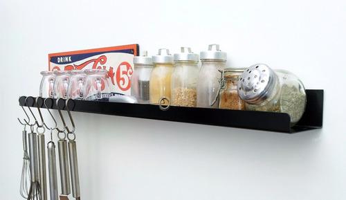 estante flotante multiuso cocina herramientas 120 cm