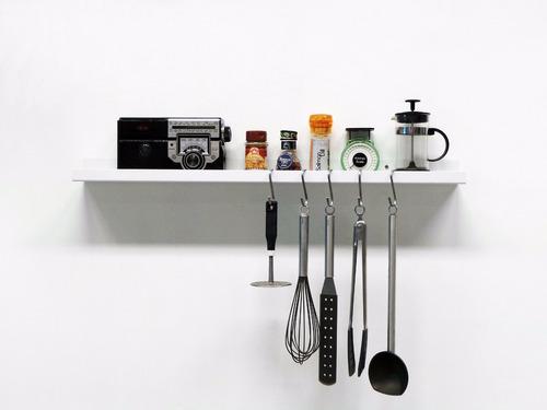 estante flotante multiuso cocina herramientas 80 cm chapa