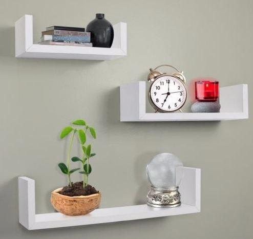 estante flotante para el hogar melamina minimalista