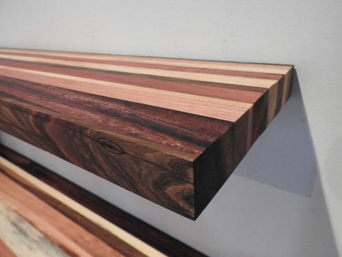 estante flotante soporte invisible en disntas maderas maciza