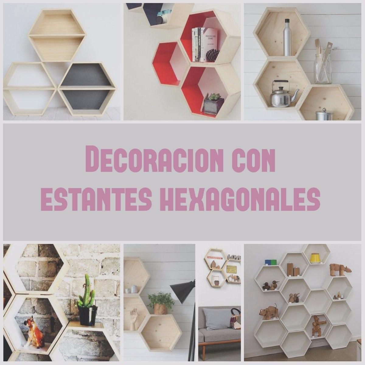 Estante Hexagonal De Madera- Decoracion Nordica Escandinava - $ 998 ...