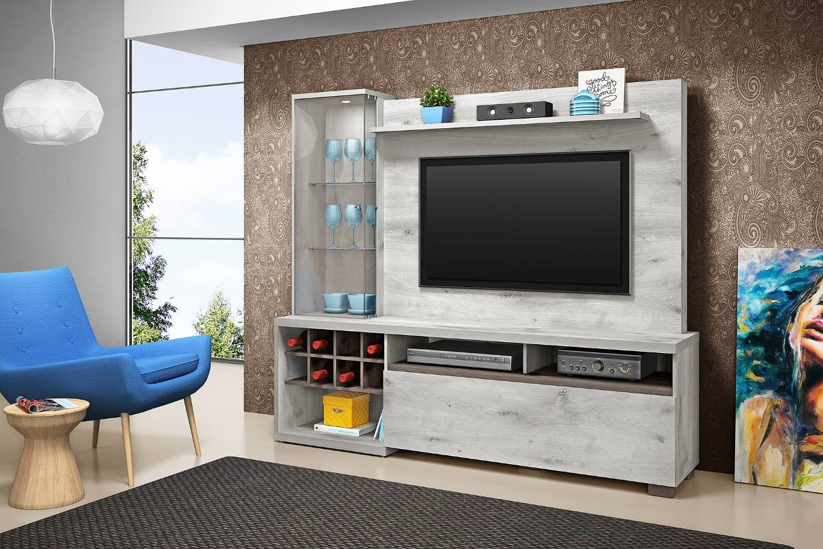 Estante home theater volare cristaleira e adega lumin rias for Home de