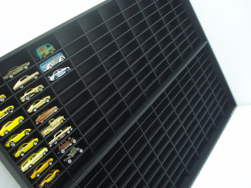 estante hotwheels 200 nichos modelo colectors  linha black