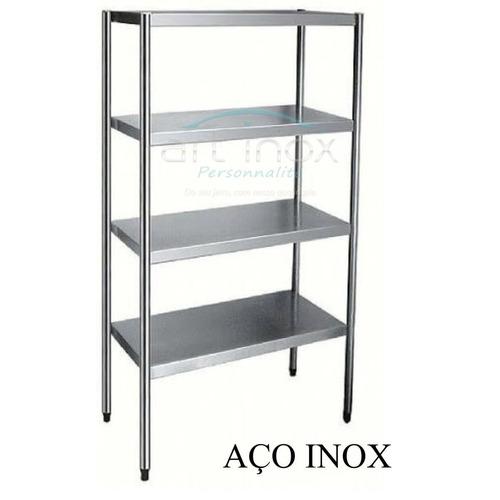 estante inox para camara fria 1,80x50x90 reforçada
