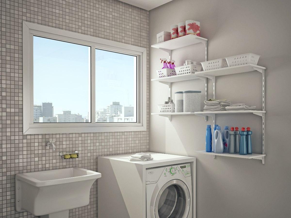 estante lavanderia cozinha 6 prateleiras mdp 60cm x 100cm r 367 16 em mercado livre. Black Bedroom Furniture Sets. Home Design Ideas
