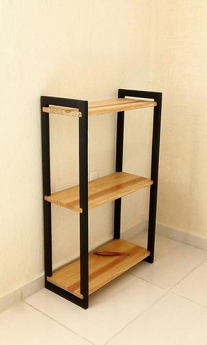estante madera artesanal + perchero madera (env incluid)
