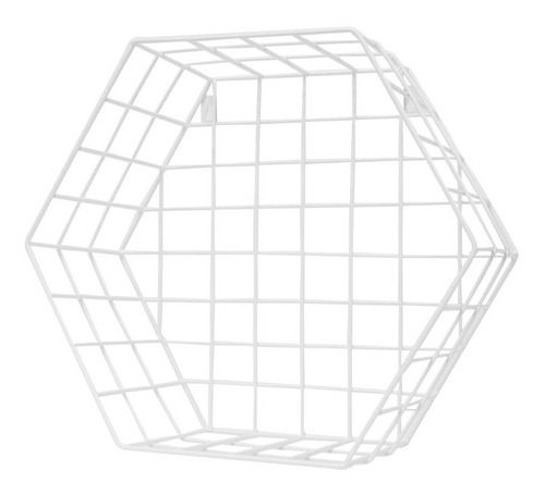 estante metal hexagonal cuadrille blanco s 32x30x30 cm