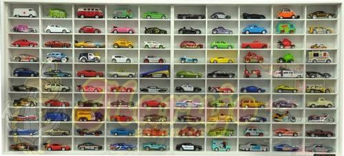 estante  miniaturas hot wheels 100 nichos promoção esc. 1/64