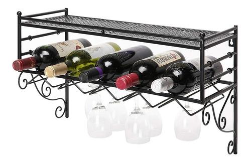 estante minibar rack amplio para vino licores vasos copas lp